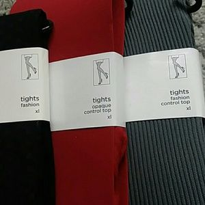 731f276a61f JCP tights set of 3 different types NWT size XL